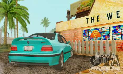 BMW E36 M3 1997 Stock for GTA San Andreas inner view
