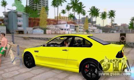 BMW M3 E46 for GTA San Andreas upper view