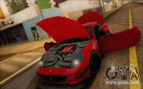 Ferrari California v2 for GTA San Andreas inner view