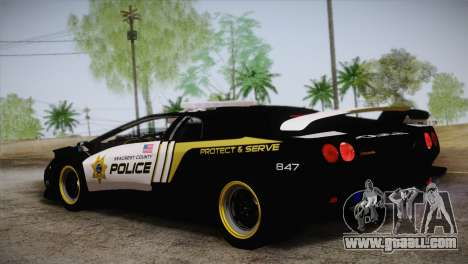 Lamborghini Diablo SV NFS HP Police Car for GTA San Andreas left view