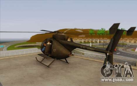 MH-6 Little Bird for GTA San Andreas left view
