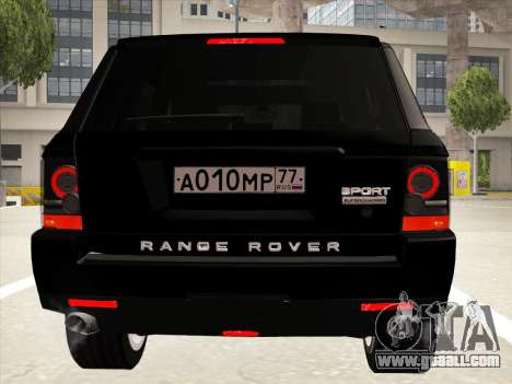 Range Rover Sport for GTA San Andreas upper view