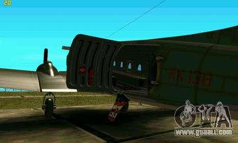 C-47 Dakota RAF for GTA San Andreas back left view