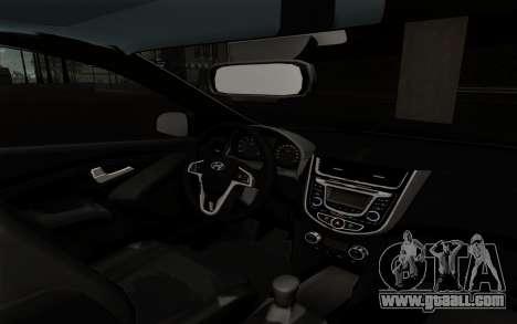 Hyundai Solaris for GTA San Andreas right view