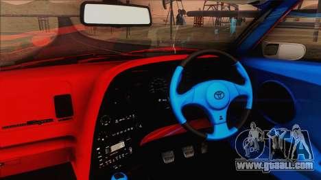 Toyota Supra 1998 Top Secret for GTA San Andreas inner view