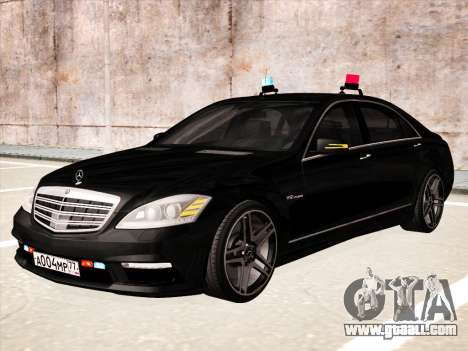 Mercedes-Benz S65 AMG 2012 for GTA San Andreas back left view