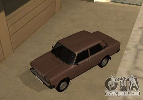 VAZ 2107 Early version for GTA San Andreas inner view