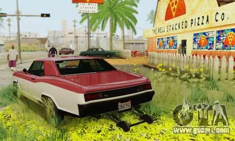 Gta 5 Buccaneer updated for GTA San Andreas bottom view