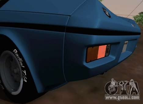 BMW M1 Turbo 1972 for GTA San Andreas side view
