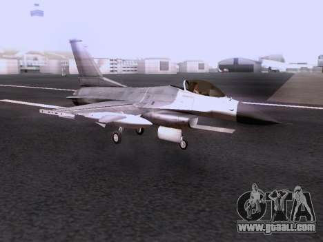 F-16 A for GTA San Andreas back view