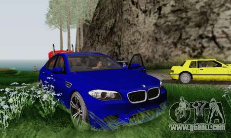 BMW F10 M5 2012 Stock for GTA San Andreas inner view