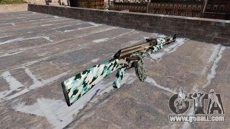 The AK-47 Aqua Camo for GTA 4