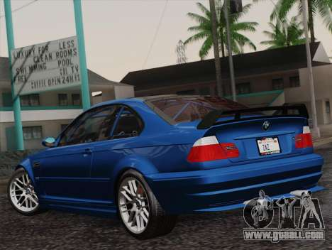 BMW M3 E46 GTR 2005 for GTA San Andreas left view