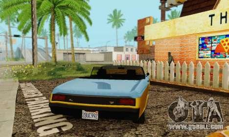 Gta 5 Buccaneer updated for GTA San Andreas back view