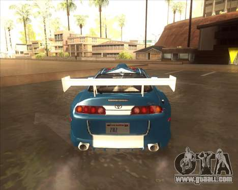 Toyota Supra из NFS Most Wanted for GTA San Andreas back left view