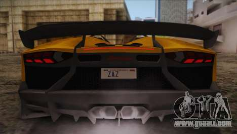 Lamborghini Aventandor J 2010 for GTA San Andreas wheels
