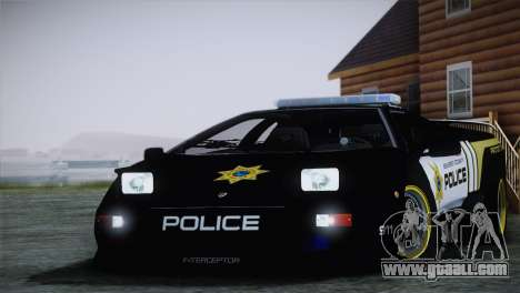Lamborghini Diablo SV NFS HP Police Car for GTA San Andreas back left view