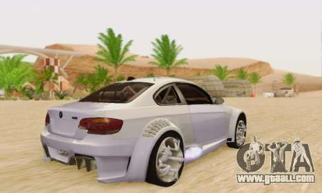 BMW M3 E92 SHD Tuning for GTA San Andreas right view