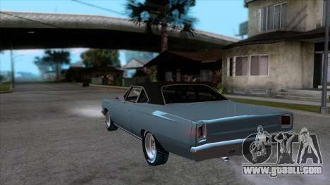 Plymouth Road RunneR 1969 for GTA San Andreas back left view
