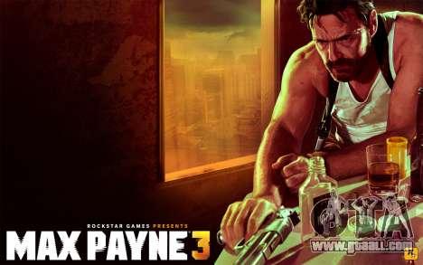 Boot screens Max Payne 3 HD for GTA San Andreas third screenshot