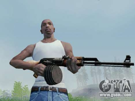 Kalashnikov Light Machine Gun for GTA San Andreas