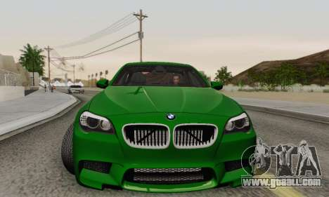 BMW F10 M5 2012 Stock for GTA San Andreas bottom view