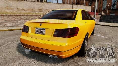 Benefactor Schafter 2014 for GTA 4 back left view