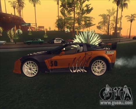 Chevrolet Corvette C6 из NFS MW for GTA San Andreas back left view