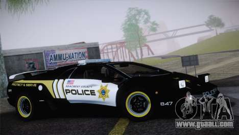 Lamborghini Diablo SV NFS HP Police Car for GTA San Andreas
