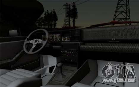 Lancia Delta HF Integrale Evo2 for GTA San Andreas inner view