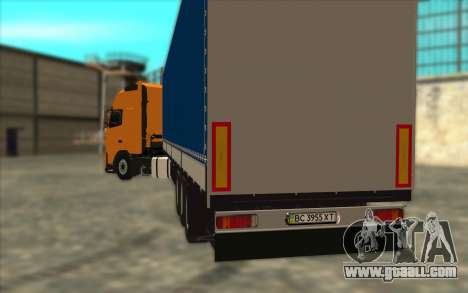 Trailer KRONE for GTA San Andreas back left view