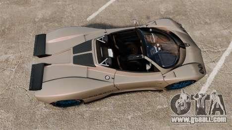Pagani Zonda C12 S Roadster 2001 PJ1 for GTA 4 right view