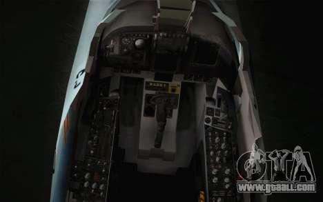 F-5E Tiger II for GTA San Andreas back view