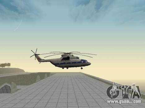 Mi 26 Civil for GTA San Andreas back view