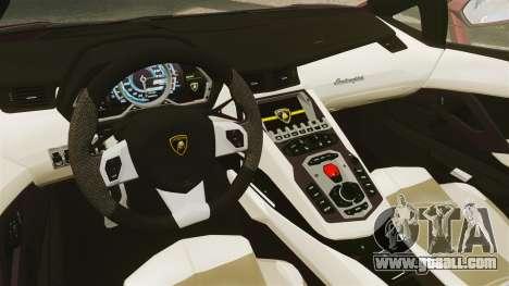 Lamborghini Aventador LP 700-4 Roadster [EPM] for GTA 4 inner view