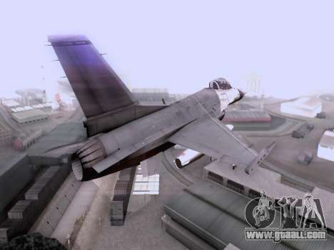F-16 A for GTA San Andreas left view
