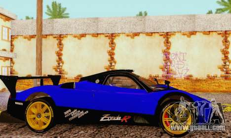 Pagani Zonda Type R Blue for GTA San Andreas right view