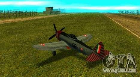 P-47 Thunderbolt for GTA San Andreas left view