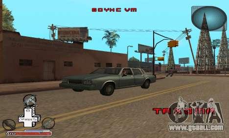 Beautiful C-HUD for GTA San Andreas forth screenshot