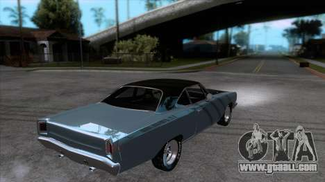Plymouth Road RunneR 1969 for GTA San Andreas right view