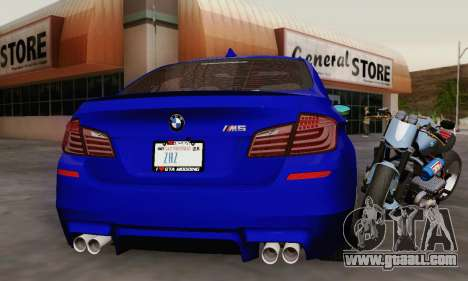 BMW F10 M5 2012 Stock for GTA San Andreas engine