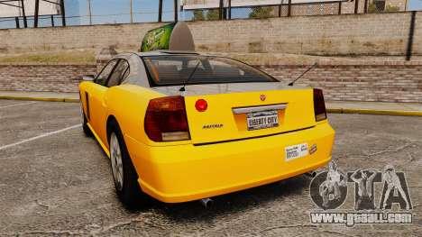 Bravado Buffalo Taxi for GTA 4 back left view