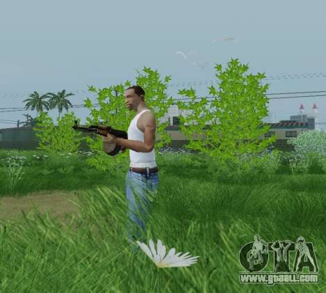 Kalashnikov Light Machine Gun for GTA San Andreas second screenshot