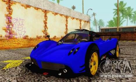 Pagani Zonda Type R Blue for GTA San Andreas