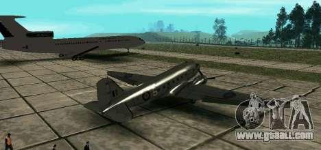 C-47 Dakota RAF for GTA San Andreas left view