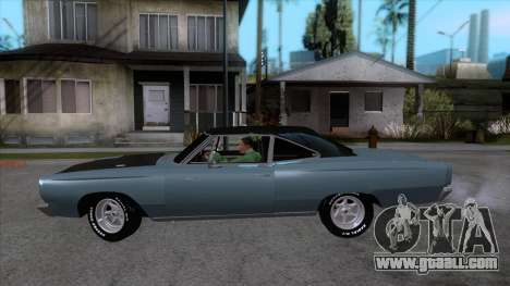 Plymouth Road RunneR 1969 for GTA San Andreas left view