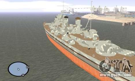 HMS Prince of Wales for GTA San Andreas third screenshot