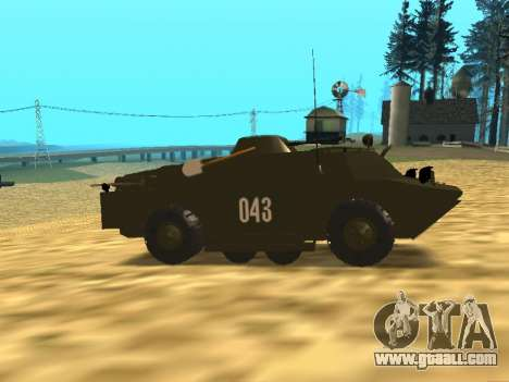 Guards BRDM-2 for GTA San Andreas back view