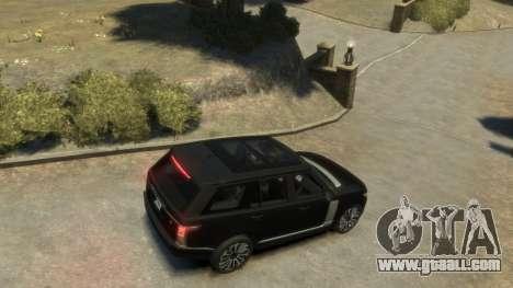 Range Rover Vogue 2014 for GTA 4 back left view