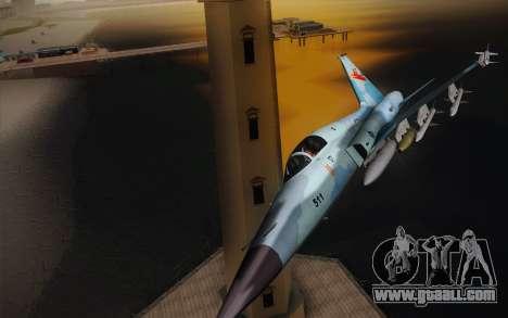 F-5E Tiger II for GTA San Andreas left view